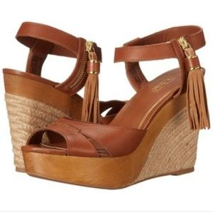 Ralph Lauren leather espadrille tassel wedges